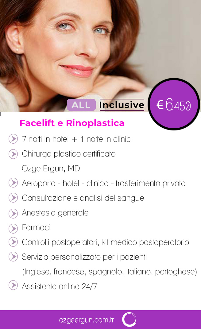Facelift & Rinoplastica Tutto incluso
